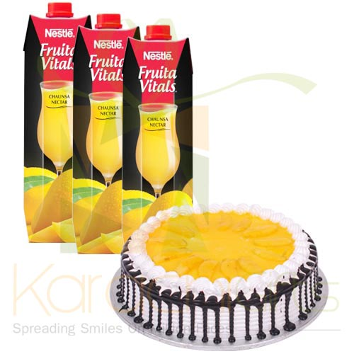 Mango Cake With Juices