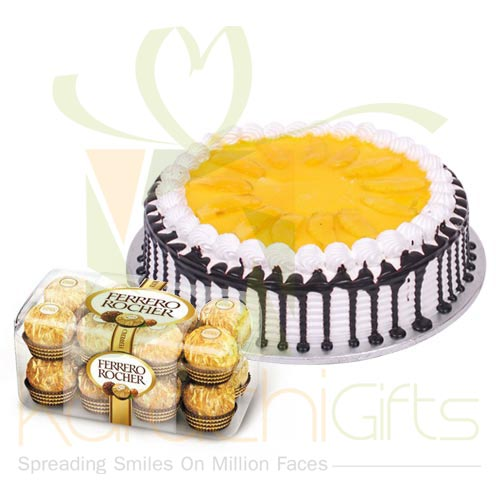 Ferrero With Mango Cake