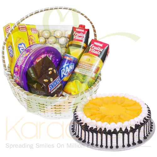 Mango Cake With Gift Basket