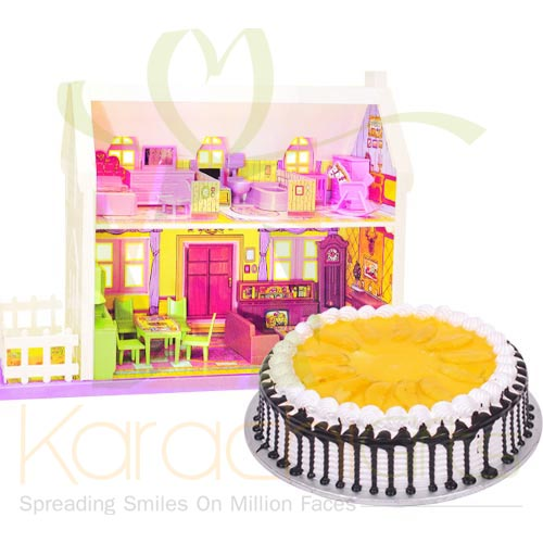 Doll House With Mango Cake