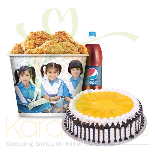 KFC Meal With Mango Cake