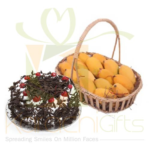 Mangoes With Cake