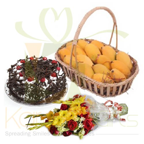 Flowers Cake n Mangoes