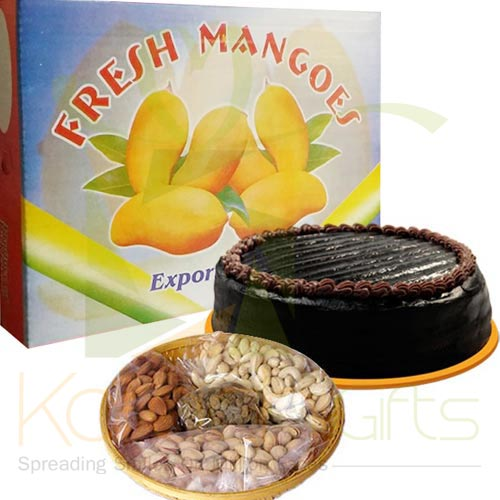 Mangoes With Cake N Dry Fruit