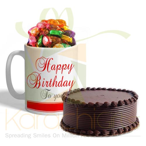 Birthday Choco Mug With Cake