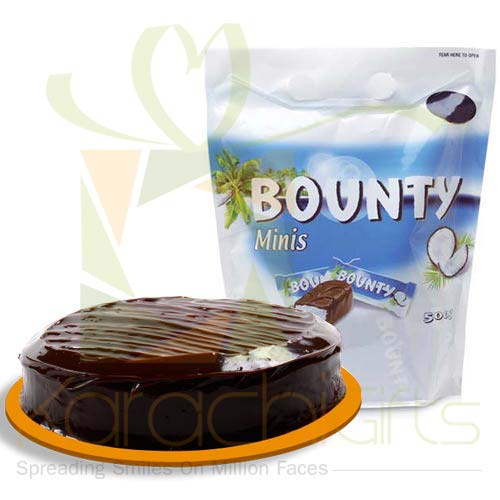 Cake With Choc Pouch