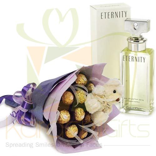 Cute Bouquet With Perfume