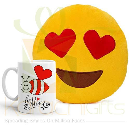 Be Mine Mug With Pillow