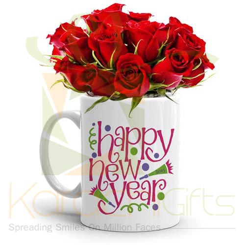 Rose New Year Mug