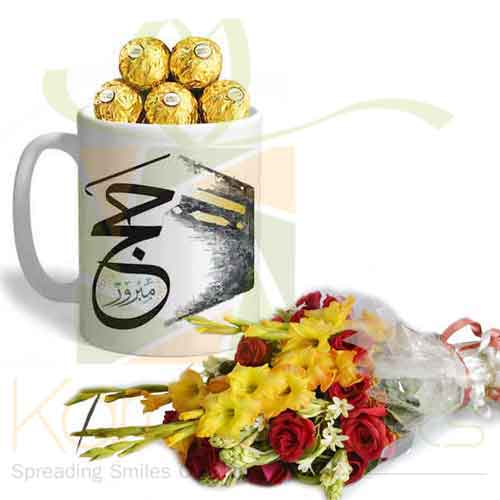 Hajj Ferrero Mug With Bouquet