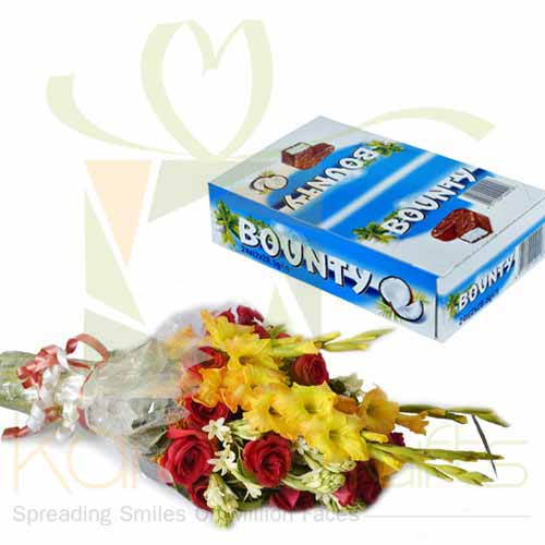 Bouquet With Bounty Box