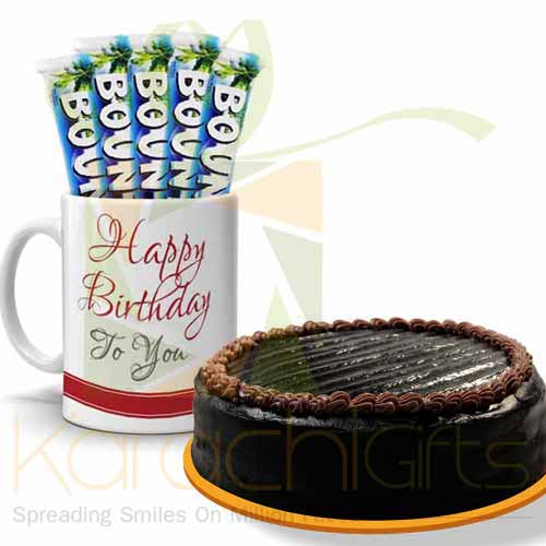 Bday Choc Mug With Cake