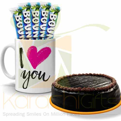 Bounty Love Mug With Cake