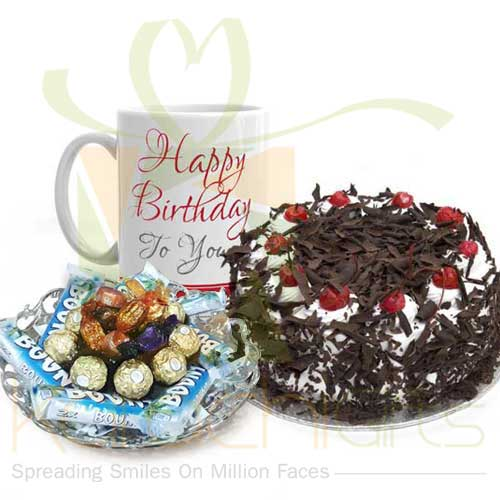 Cake Mug And Choc Tray