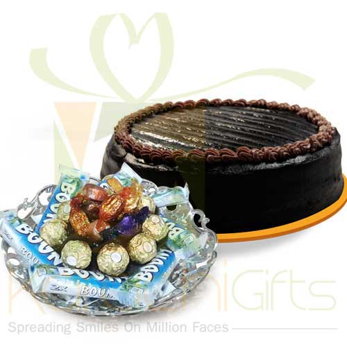 Mix Chocs With Cake