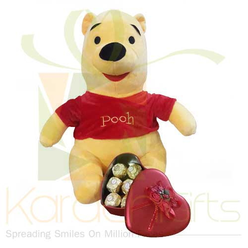 Pooh With Chocolate Heart