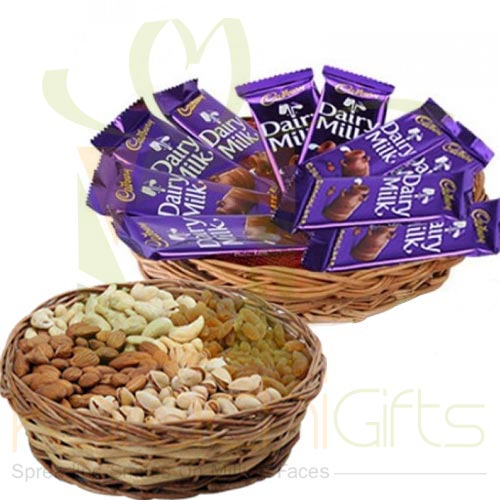 Choco And Dry Fruit Basket