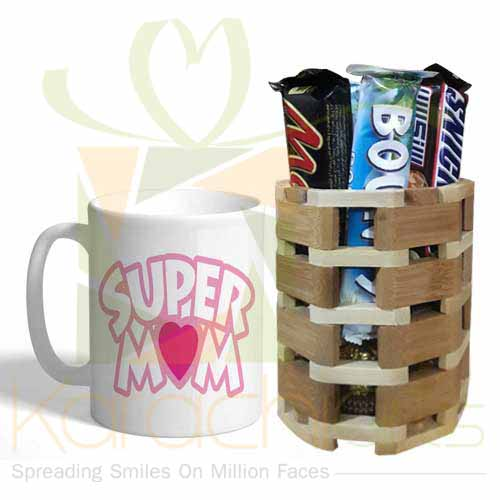 Mom Mug With Chocs Bucket