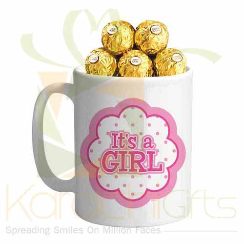 Its A Girl Choc Mug
