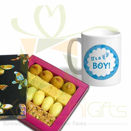 Mithai With Boy Mug