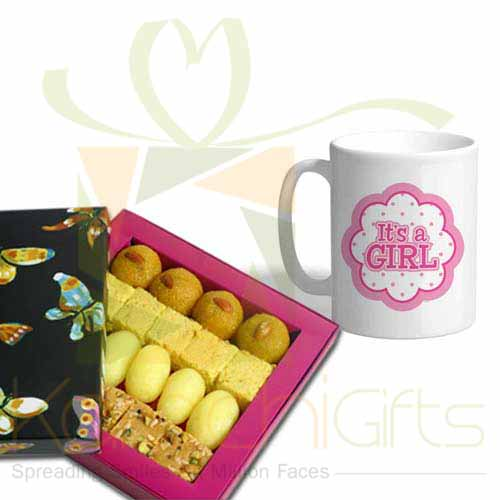 Mithai With Girl Mug