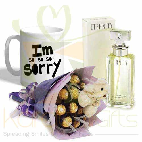 Choc Bouquet Sorry Mug With Eternity