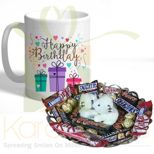 Teddy Choco Tray With Bday Mug