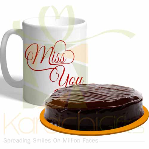 Miss You Mug With Cake