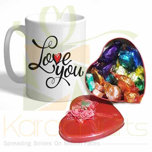 Choc Heart With Love Mug