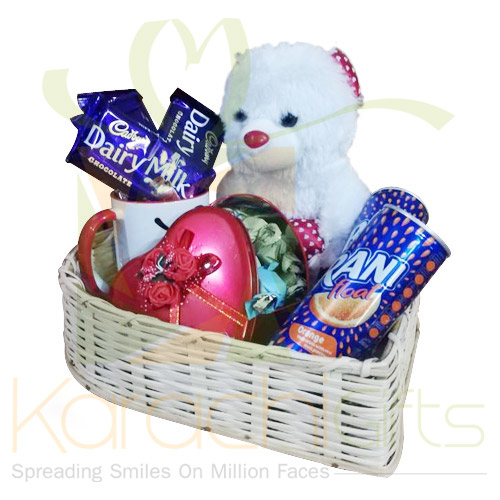 Love Gifts In A Heart Basket