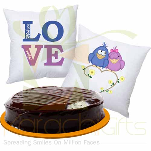 Cushion Pair With Cake