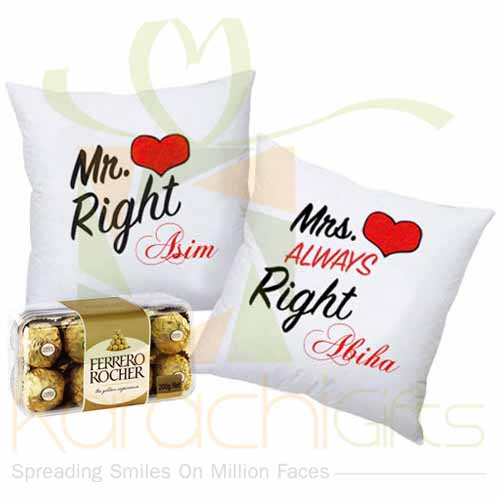 Right Couple Cushion  With Chocs