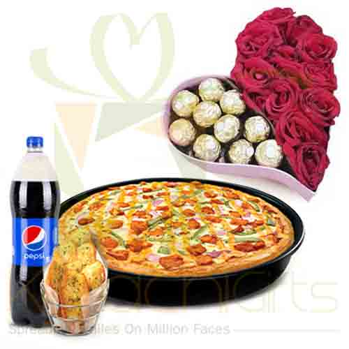 Roses Chocolates And Pizza