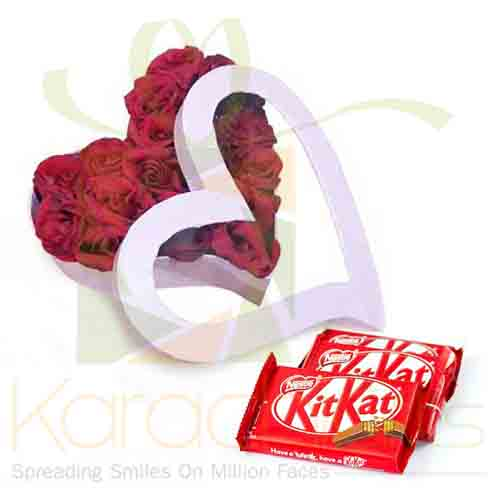 Rose Heart With KitKat