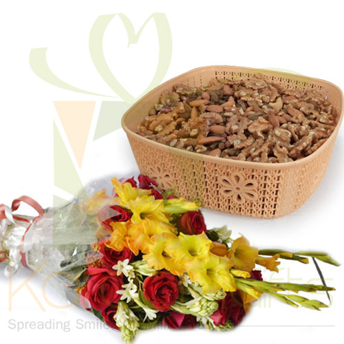 2Kg Dry Fruits With Flowers