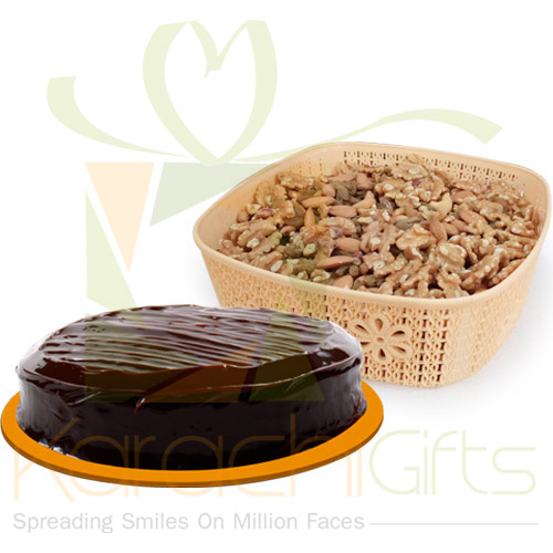2Kg Dry Fruits With Cake