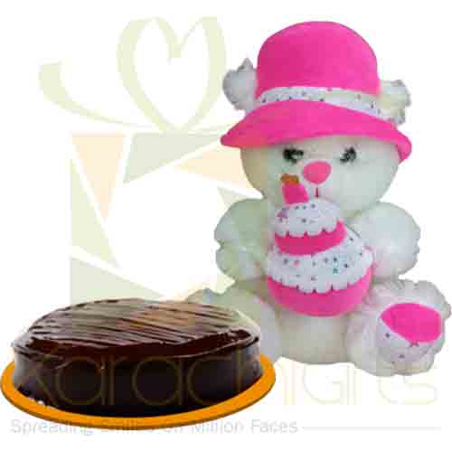 Happy Birthday Bear With Cake