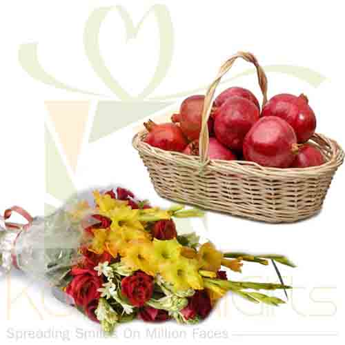 Anar Basket With Flowers