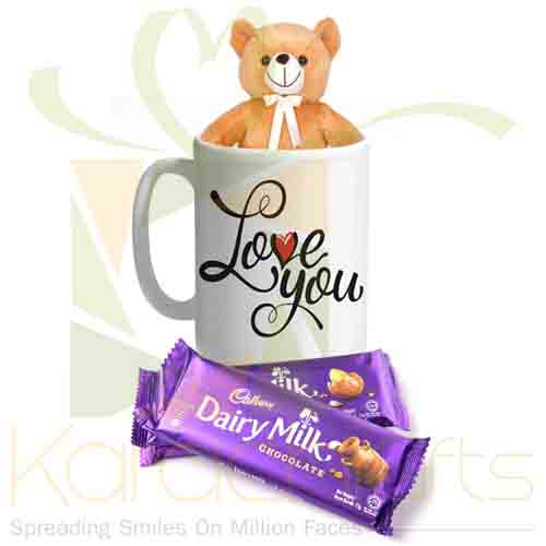Teddy Mug With Chocolates