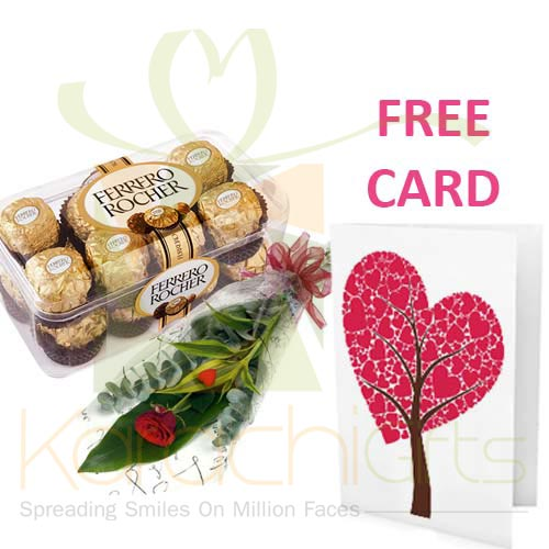 FREE Card With Flowers n Chocs