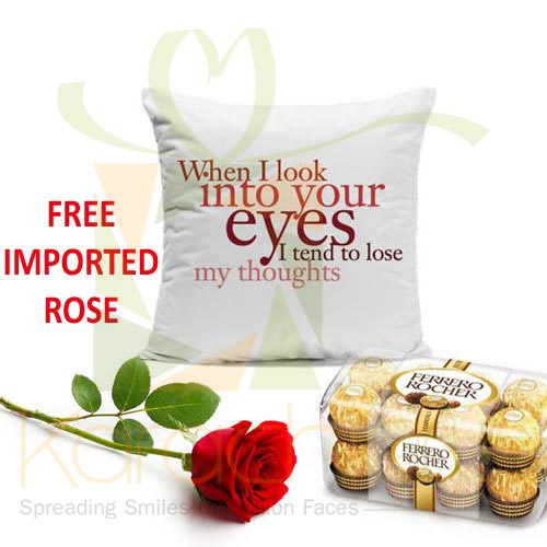 FREE Rose With Cushion n Chocs