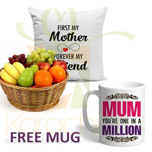FREE Mug With Cushion n Fruits