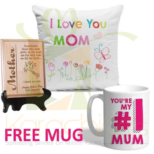 FREE Mug With Cushion n Plaque