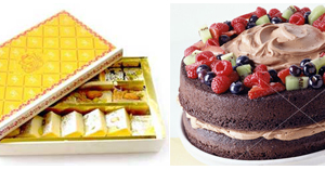 Diamond : Sweets   Mithai (2KG) & Cake ( 2 LBS )