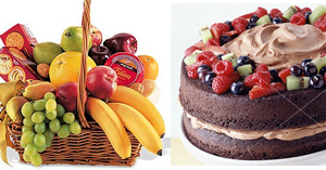Diamond : Cake ( 2LBS ) & Fruit Basket ( 7 9 KG)
