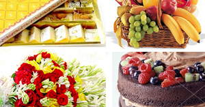 Silver   Flowers & Cake & Sweets & Fruits