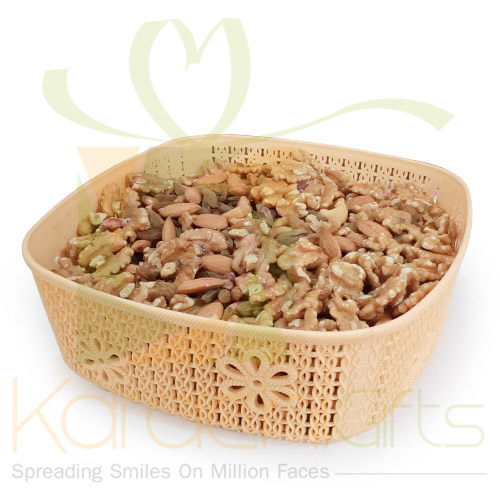 2Kg Mix Dry Fruits In A silicone basket