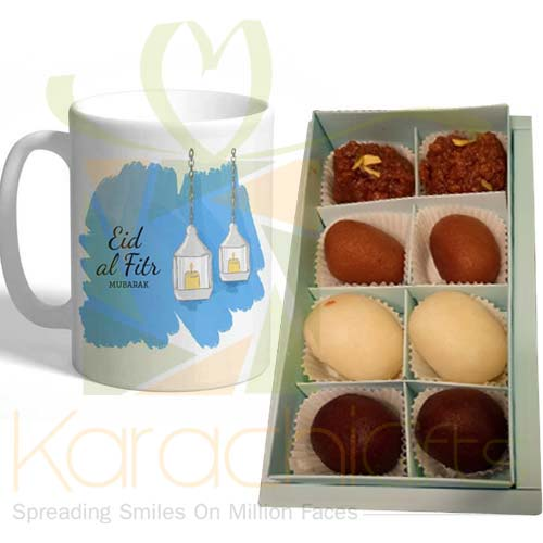 Eid Mug With Mix Mithai(Small Box)
