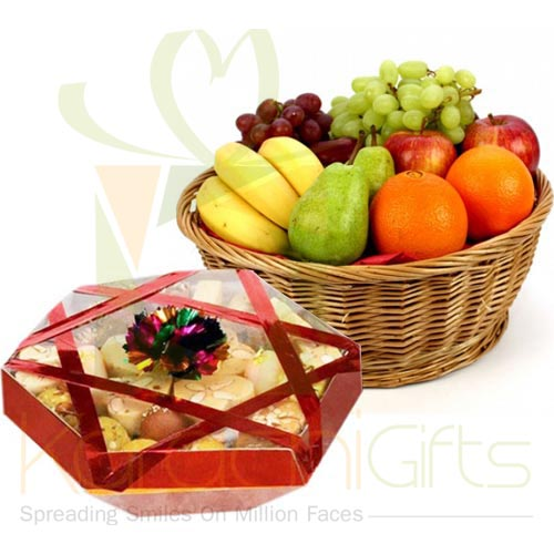 Mithai Tokra With Fruits