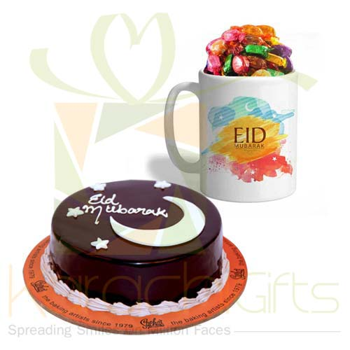 Sweet Eid Mug With Eid Cake